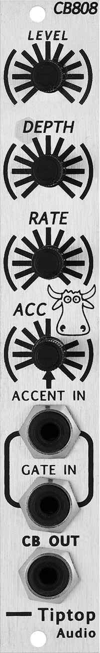 The CB808 Is TR 808s Analog Cow Bell Sound Generator In Eurorack Format Its A Low Cost Module That Brings Classic Tone And Continues To