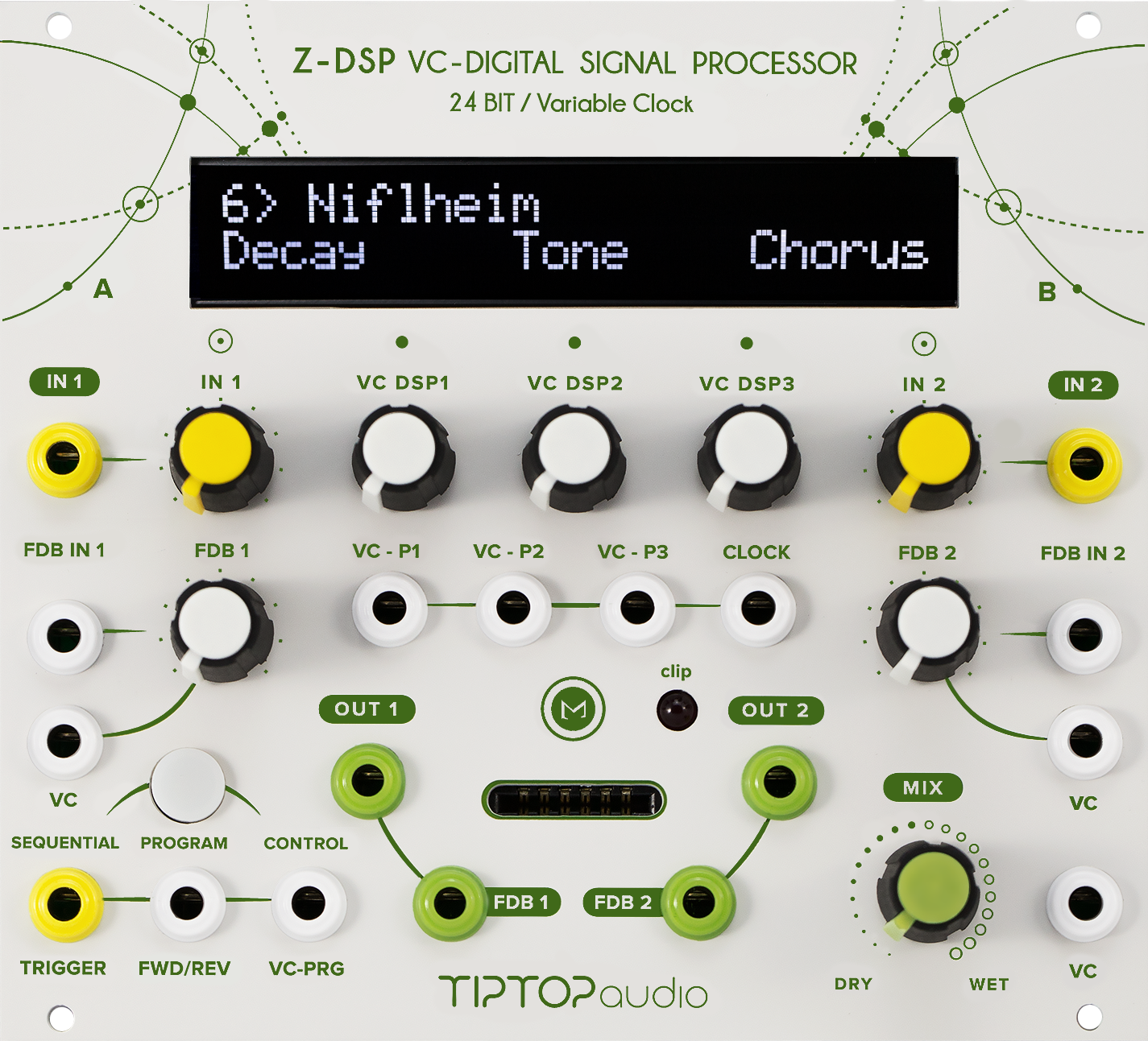 Z Dsp Tiptop Audio The Expense And Complexity Of Creating A Custom Printed Circuit Board Audios Is Cartridge Based Open Source Digital Sound Processing Effects Generating Platform For Your Modular Synthesizer